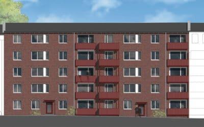 2021: Modernisierung + Dachaufstockung (Neubau) in Hamm Süd